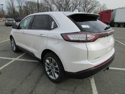 Ford Edge Titanium Awd White Platinum Metallic Tri Coat Watertown Ma