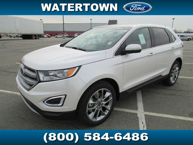 Ford Edge Titanium Awd White Platinum Metallic Tri Coat Watertown Ma